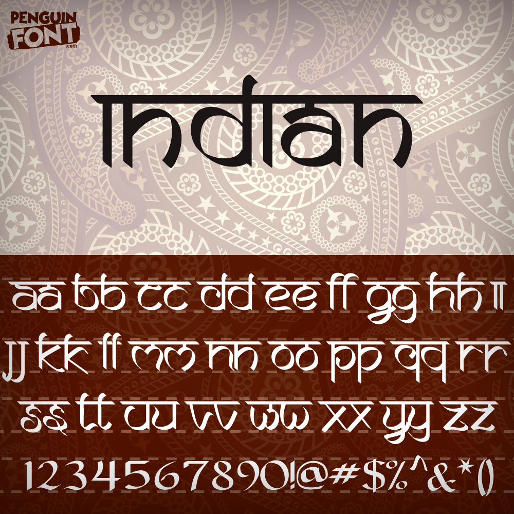 Penguin Indian Font