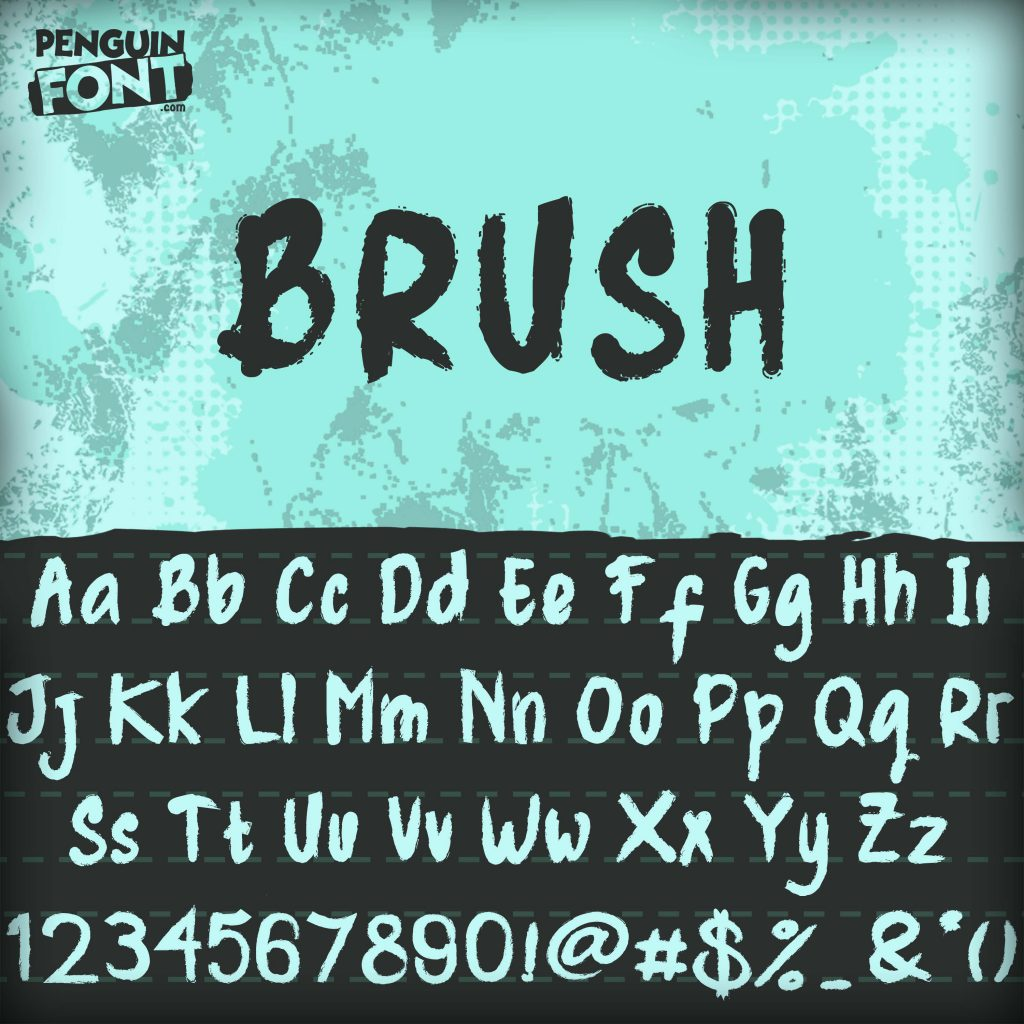 penguin font brush